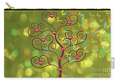 Butterfly Of Heart Tree Carry-all Pouch