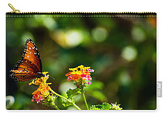 Butterfly On A Flower Carry-all Pouch