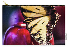 Butterfly On Apple Carry-all Pouch