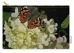 Butterfly On Hydrangea Carry-all Pouch