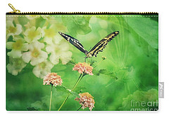 Butterfly On Lantana Montage Carry-all Pouch by Toma Caul
