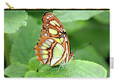 Butterfly On Leaf Carry-all Pouch