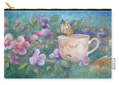 Butterfly On Teacup Carry-all Pouch