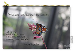 Butterfly Quote Art Print Carry-all Pouch