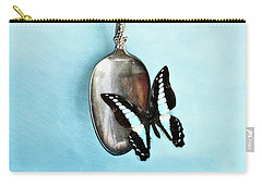 Butterfly Resting On Antique Spoon Carry-all Pouch