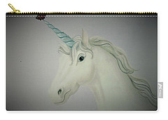 Butterfly Resting On Unicorn Carry-all Pouch