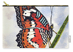 Carry-all Pouch featuring the painting Butterfly - 171012 by Sam Sidders