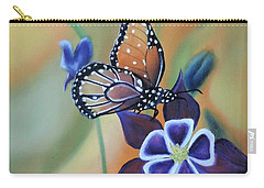 Carry-all Pouch featuring the painting Butterfly Series#4 by Dianna Lewis