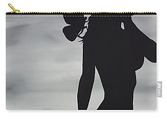 Butterfly Silhouette Carry-all Pouch by Edwin Alverio