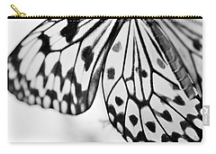 Butterfly Wings 3 - Black And White Carry-all Pouch