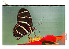 Butterfly Zebra Longwing On Zinnia Carry-all Pouch