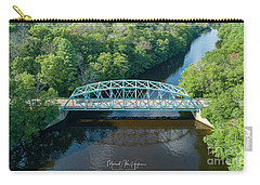Carry-all Pouch featuring the photograph Butts Bridge Summertime by Michael Hughes