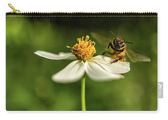 Carry-all Pouch featuring the photograph Buzz Off by Louise Lindsay