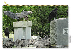 Buzzards Of Smithfield Carry-all Pouch by Melissa Messick