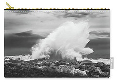 Bw Huge Wave Crashing On Tsitsikamma National Park South Africa Carry-all Pouch