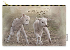Carry-all Pouch featuring the photograph By Faith by Robin-Lee Vieira