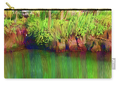 By The Pond Carry-all Pouch by Karen Nicholson
