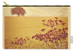 Carry-all Pouch featuring the photograph By The Side Of The Wheat Field by Lyn Randle