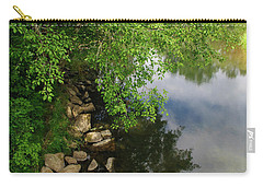 Carry-all Pouch featuring the photograph By The Still Waters by Tikvah's Hope