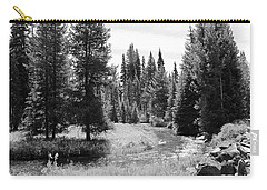 Carry-all Pouch featuring the photograph By The Stream by Christin Brodie