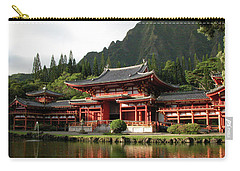 Carry-all Pouch featuring the photograph Byodo-in Temple, Oahu, Hawaii by Mark Czerniec