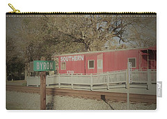 Carry-all Pouch featuring the photograph Byron Town By The Tracks by Aaron Martens