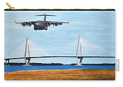 C-17 And Ravenel Bridge Carry-all Pouch by Holly York