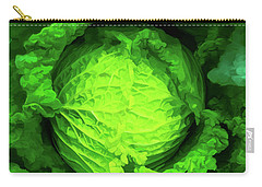 Cabbage 02 Carry-all Pouch by Wally Hampton