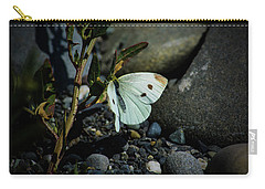 Carry-all Pouch featuring the photograph Cabbage White Butterfly by Tikvah's Hope