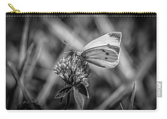 Cabbage White In Gray Carry-all Pouch by Ray Congrove