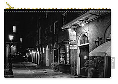 Cabildo Alley At Night In Black And White Carry-all Pouch