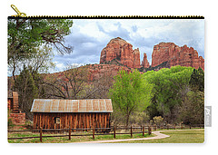 Carry-all Pouch featuring the photograph Cabin At Cathedral Rock by James Eddy