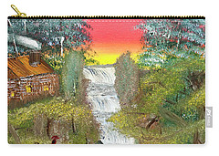 Cabin By The Falls Carry-all Pouch