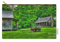Carry-all Pouch featuring the photograph Cabin Fever Great Smoky Mountains Art by Reid Callaway