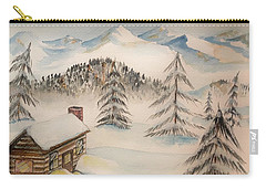Cabin In The Rockies Carry-all Pouch