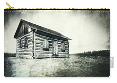 Carry-all Pouch featuring the photograph Cabin Near Paradise Springs - Kettle Moraine State Forest by Jennifer Rondinelli Reilly - Fine Art Photography