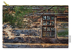 Carry-all Pouch featuring the photograph Cabin Window by Joanne Coyle