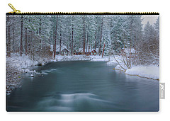 Carry-all Pouch featuring the photograph Cabins On The Metolius by Cat Connor