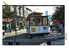 Carry-all Pouch featuring the photograph Cable Car Turnaround by Steven Spak