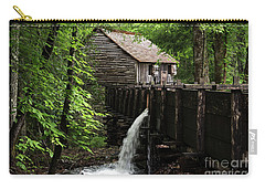 Carry-all Pouch featuring the photograph Cable Grist Mill by Andrea Silies