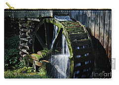 Carry-all Pouch featuring the photograph Cable Mill Water Wheel by Douglas Stucky