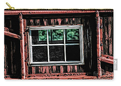 Carry-all Pouch featuring the photograph Caboose Window by Brad Allen Fine Art