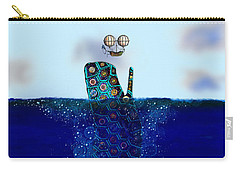 Carry-all Pouch featuring the digital art Cachalot Dreadnought And The Airship by Iowan Stone-Flowers