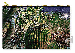 Carry-all Pouch featuring the photograph Cacti by Lori Seaman