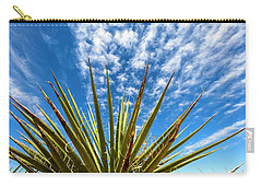 Cactus And Blue Sky Carry-all Pouch by Amyn Nasser