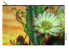 Cactus Flower At Sunrise Carry-all Pouch