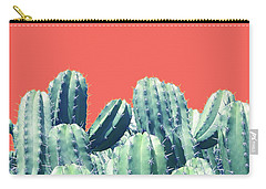 Cactus On Coral Carry-all Pouch