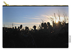 Carry-all Pouch featuring the photograph Cactus Silhouettes by Matt Harang