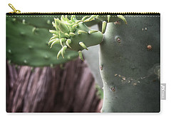 Cactus Spring - Macro Plants #3470 Carry-all Pouch by Ella Kaye Dickey