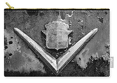 Cadillac Emblem On Rusted Hood Carry-all Pouch